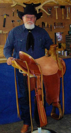 Fred Wagner and handmade saddle